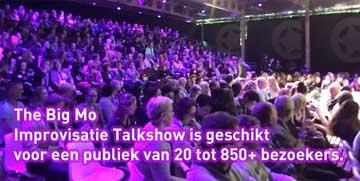Improvisatie theater talkshow op maat voor congressen en bijeenkomst publiek