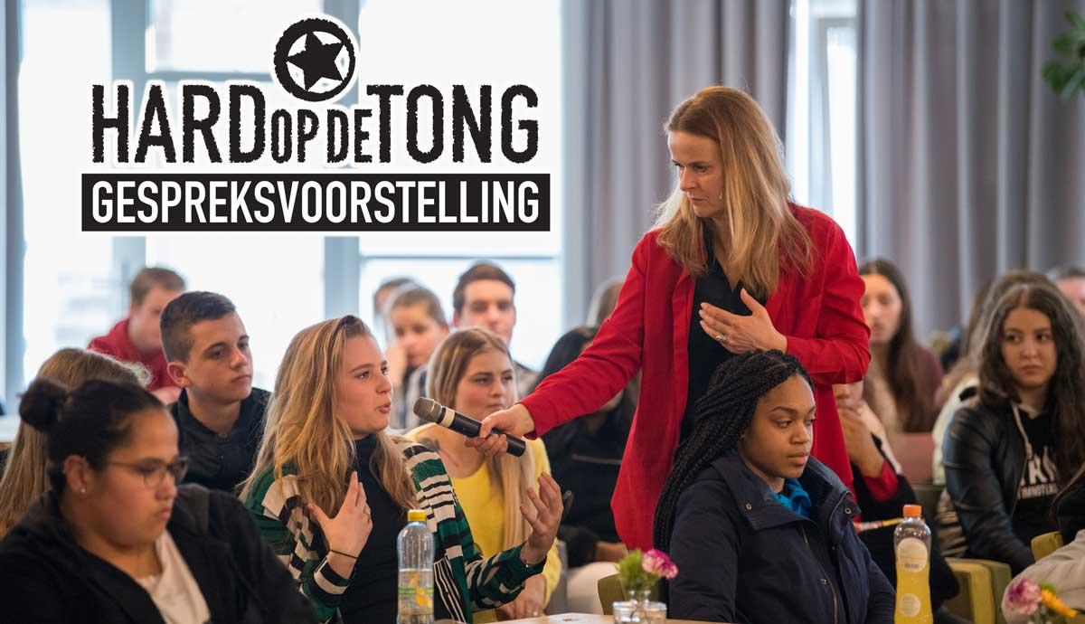 Hard op de Tong voorstelling voor voortgezet onderwijs gespreksvoorstelling