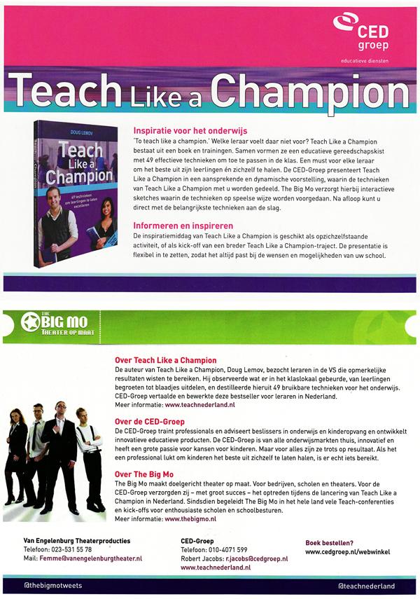 Teach like a champion CED  The Big Mo theater