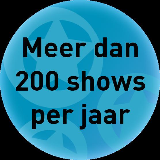 Meer dan 200 improvisatie voorstellingen op maat per jaar