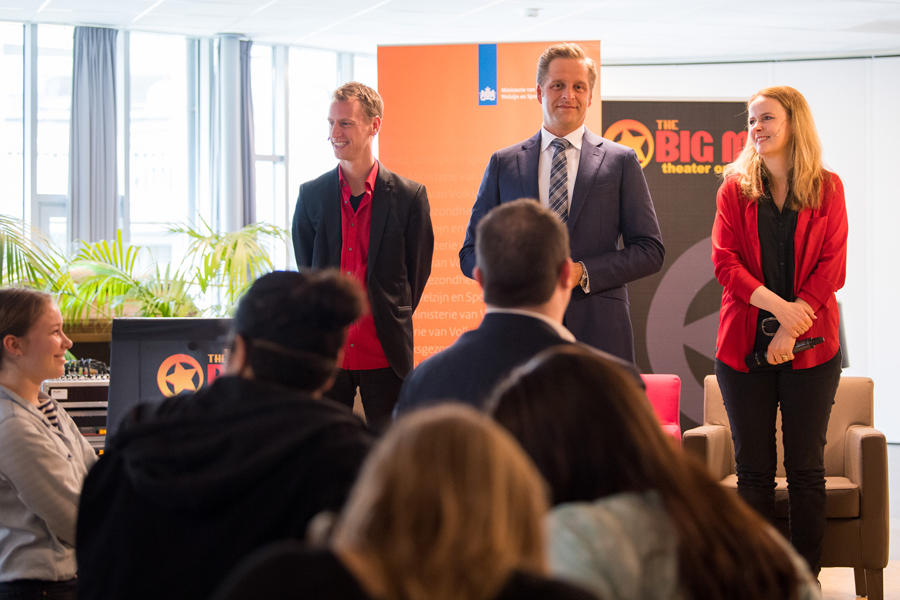 Minister de Jonge in The Big Mo Talkshow bij Saffier 2018